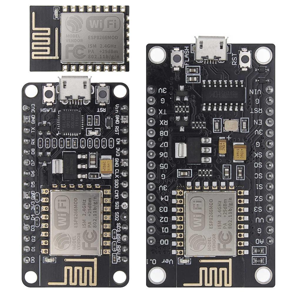 اللاسلكية وحدة CH340/CP2102 NodeMcu V3 V2 لوا واي فاي إنترنت الأشياء مجلس التنمية على أساس ESP8266 ESP-12E مع هوائي ثنائي الفينيل متعدد الكلور
