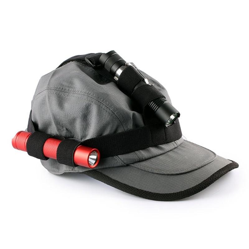 Jiguoor Black Flashlight Headband Headlight Bands Torch Bands Belt For 18650 Flashlight Headlamp 18-25mm Torch Accessories