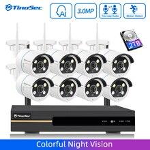 TinoSec AI Security Camera System 8CH NVR 3MP Wireless CCTV
