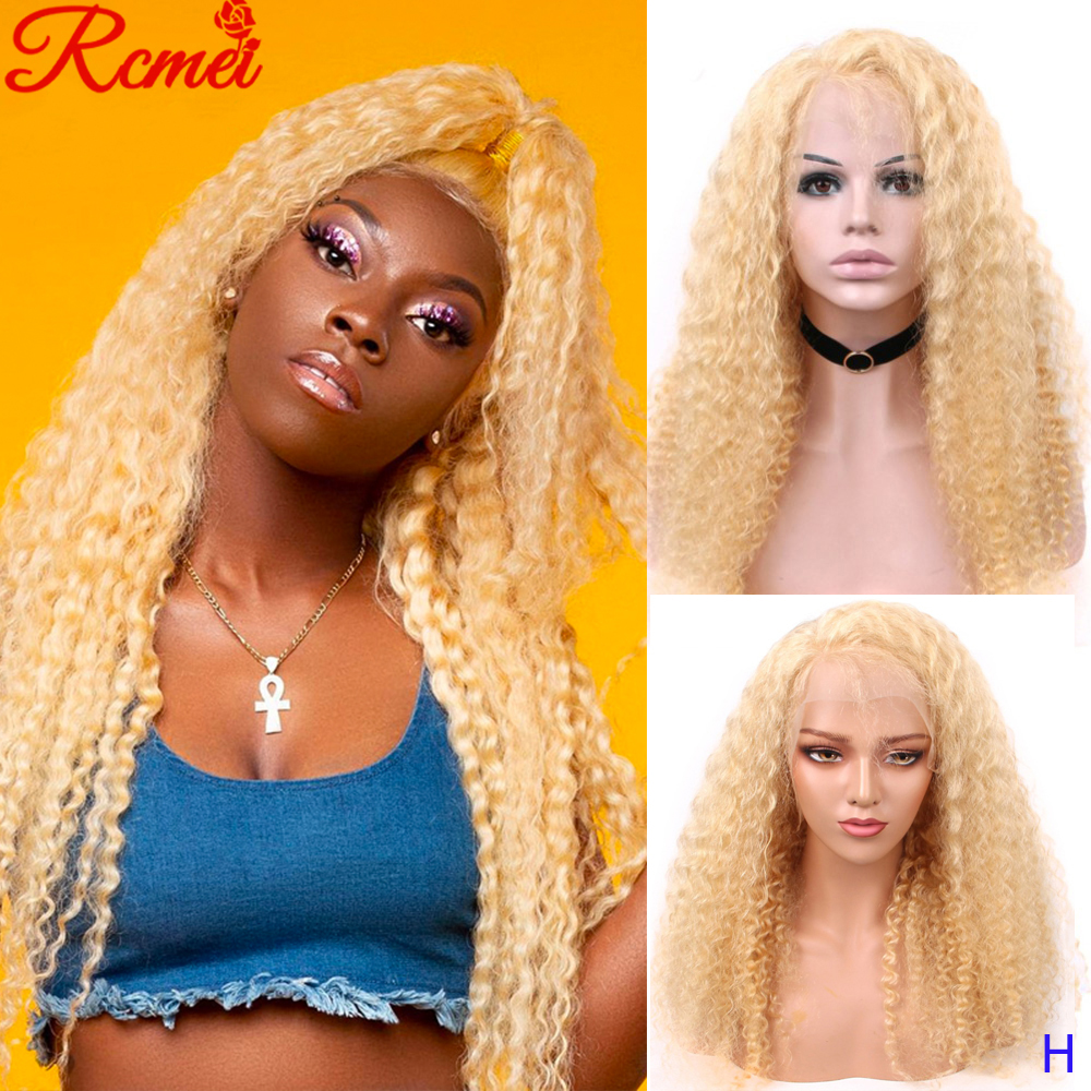 13x4 Transparent 613 Blonde Lace Front Wig Brazilian Deep Wave Long Lace Front Human Hair Wigs Pre Plucked With Baby Hair Remy