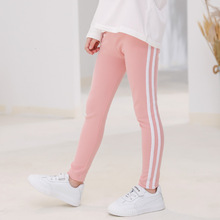 2019 Autumn New Girl Trousers Childrens Casual Pure Cotton Stretch Soild Color Middle Waist Baby Long Pants