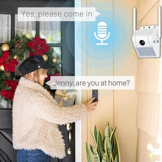 1080P sans fil IP caméra applique sécurité extérieure bidirectionnelle Audio projecteur couleur Vision nocturne Wifi caméra V380 3