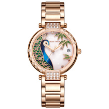 2020 New Reef Tiger / RT Luxury Rose Gold Watch White Dial Steel Women Automatic