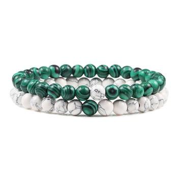 Hot 2pcs/set 7 Style Couples Distance Bracelet Classic Natural Stone White And Black Yin Yang Yoga Beaded Bracelet for Men Women 4