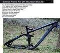 Excelli dh quadro de ciclismo de bicicleta macio-cauda quadro de suspensão total downhill mountain bike26/27.5 bicicleta quadro f disco/freio a óleo 17