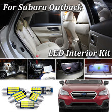 100% Canbus LED Interior Light For Subaru Outback BE BH BL BP BR BS LED Interior Trunk Door License plate Light (1999-2020)(China)
