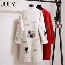 цены на Autumn And New Pattern Fund Knitting Unlined Upper Garment Cardigan Sweater Women's Dress Coat Korean Embroidery Fashion  в интернет-магазинах