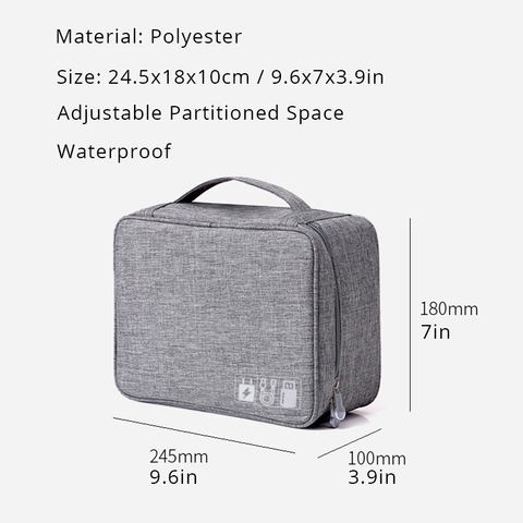Waterproof Home Office USB Data line Storage Charger Organizer Portable Mobile PC Bag Car Business Travel Gear Digital Products Lahore