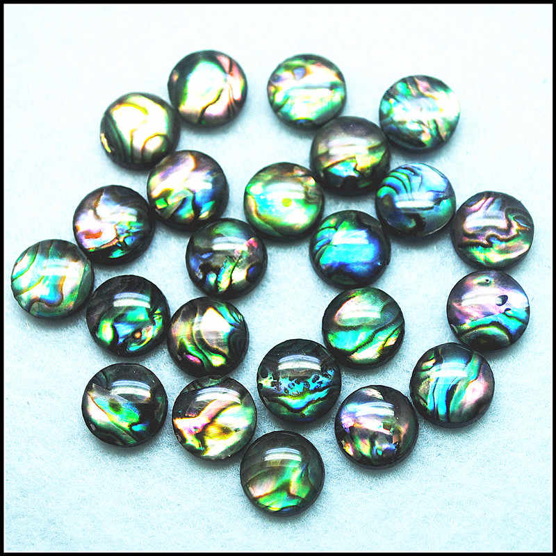 31.05cts....A1147 Natural Abalone shell cabochons for jawellery 30x21mm