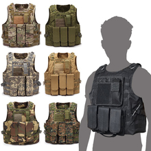все цены на Military Tactical Vest Combat Assault Plate Carrier Tactical Vest CS Outdoor Clothing Hunting Vest онлайн