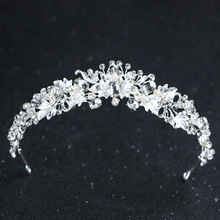 SLBRIDAL Handmade Vintage Baroque Rhinestones Crystal Wedding Tiara Bridal Crown Princess Bridesmaid Headpiece Hair accessories
