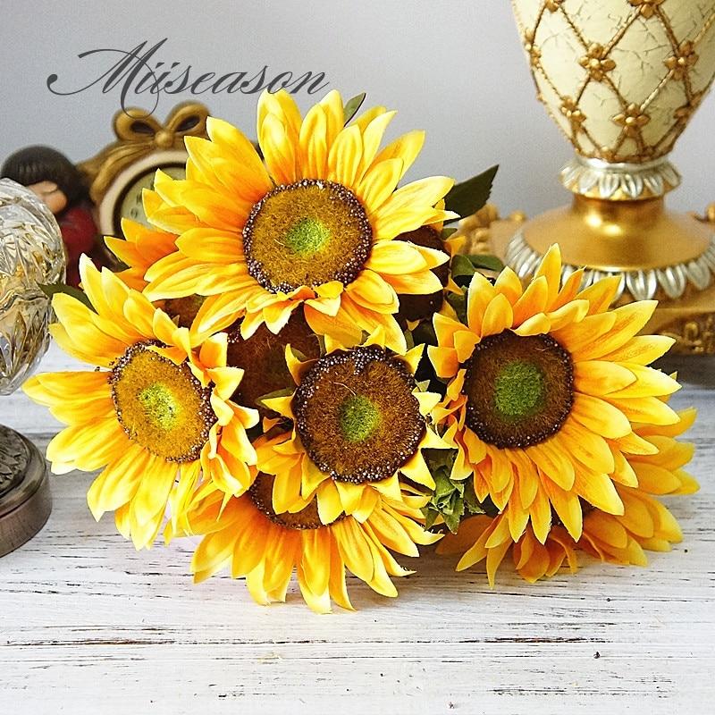 Rustic Yellow Sunflower Metal Wall Decor Autumn Fall Holiday Decor