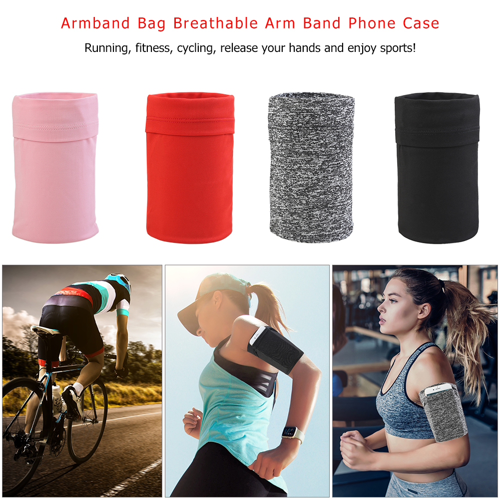 Armband Bag Breathable Elastic Arm Band Mobile Phone Cellphone Case For Outdoor Night Jogging Sports Fitness