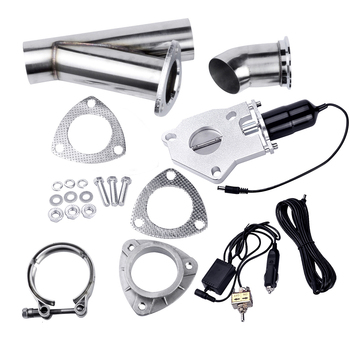 """Espeeder 2.5"""" Size Stainless Steel Electric Exhaust CutOut Kit With Manual Switch Car Complete Installations Exhaust CutOut"""