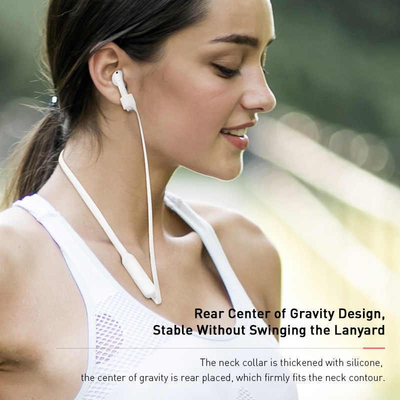 Baseus silikonowe smycz dla Airpods 1/2 bezprzewodowe słuchawki sportowe zaczep na ucho Anti-lost Rope dla Airpods słuchawki ochronne smycz