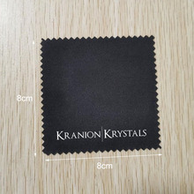 Polishing Jewelry Logo Customised Black with White Individually-Wrapped-Packaging 8--8cm