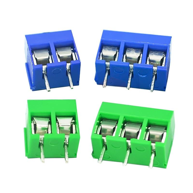 20 шт./лот винт 5,08 мм 3,5 мм прямые булавки PCB винтовые клеммы разъема KF301-2P KF301-3P KF350-2P KF350-3P винтовые клеммы