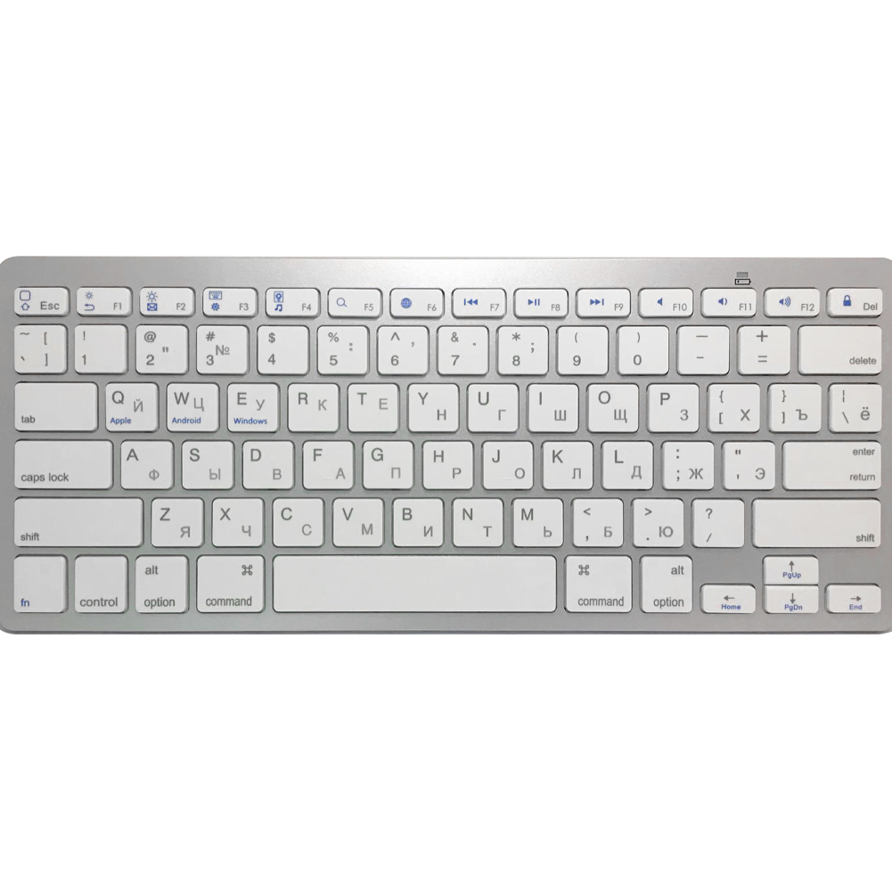 Ultra slim Water proof Wireless Keyboard Bluetooth 3 0 For Apple Series Book Smart Phones PC Computer Black White 828 in Keyboards from Computer Office