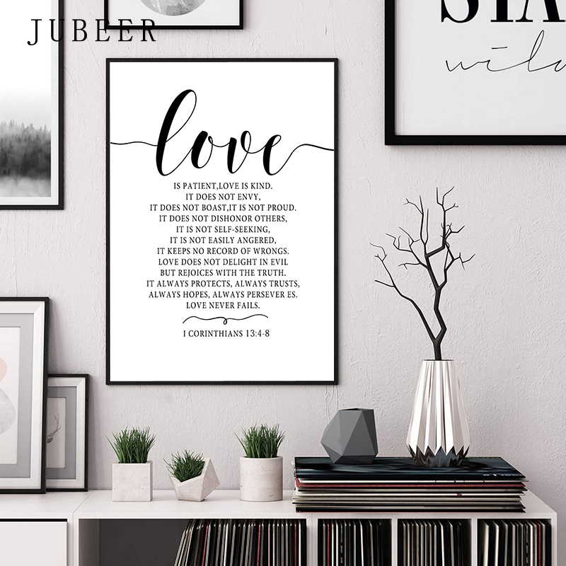 Scandinavian Style Love Poster Black and White Canvas Painting Amore Wall Pictures For Living Room Nordic Scandinavian Style Love Poster Black and White Canvas Painting Amore Wall Pictures For Living Room Nordic Decoration Home Art