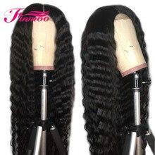 Полный парик шнурка глубокая волна перуанские волосы remy волосы предварительно сорванные естественные волосы с волосами младенца отбеленные узлы человеческих волос парик