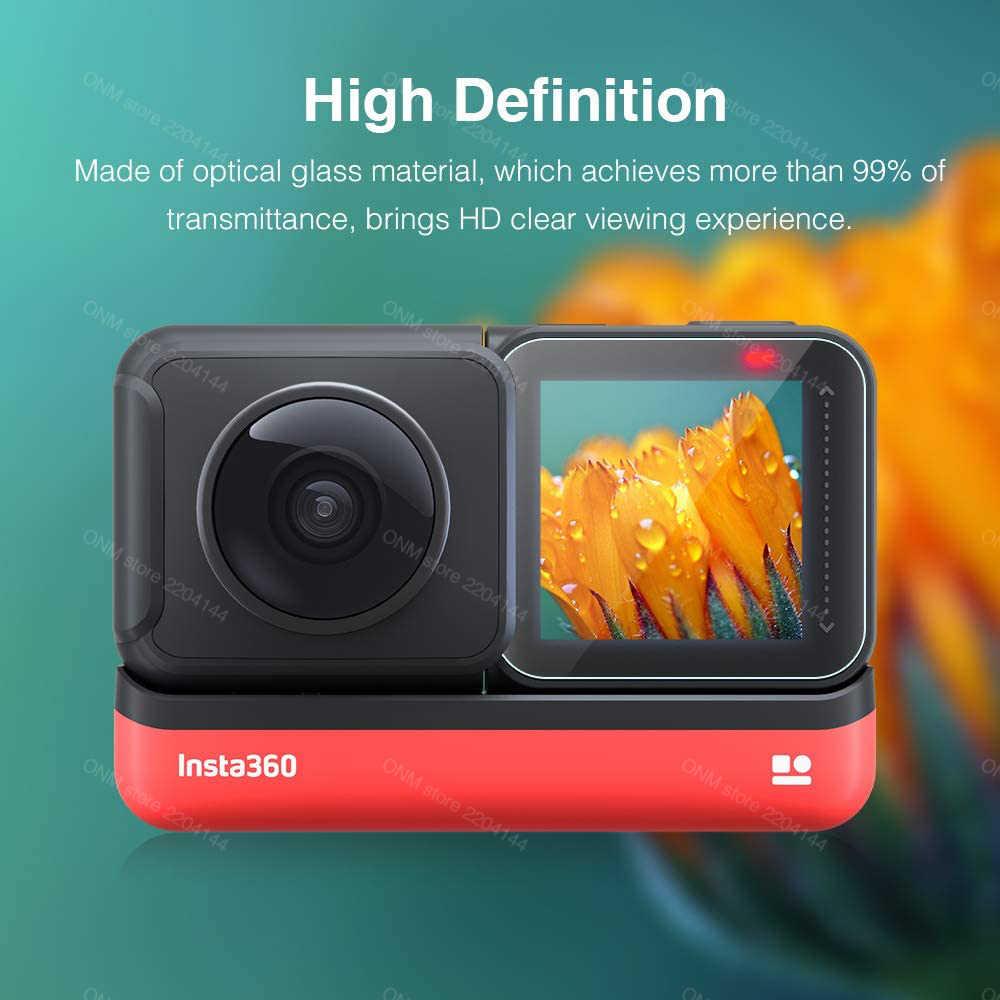 Lentille Transparent Film Protecteur upscreen Protection d/'/écran Compatible avec Insta360 One R Twin Edition 4K Weitwinkel-Mod Anti-Trace
