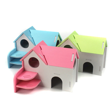 Hamster House Hideout Pet Hamster Cage Small Animal Hideout Hamster Play Hideout Cage