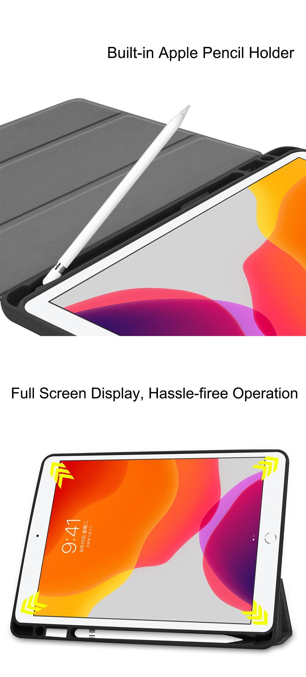 Tablet 10.2 Flip +PU 7th 8th 2020 inch Leather Soft iPad MTT TPU For Case Generation