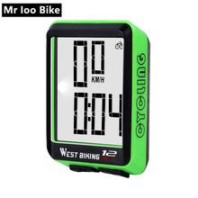 цена на Big Screen Wireless Bike Computer Waterproof Speedometer Stopwatch with Backlight Bike Speedometer bicycle computer igpsport