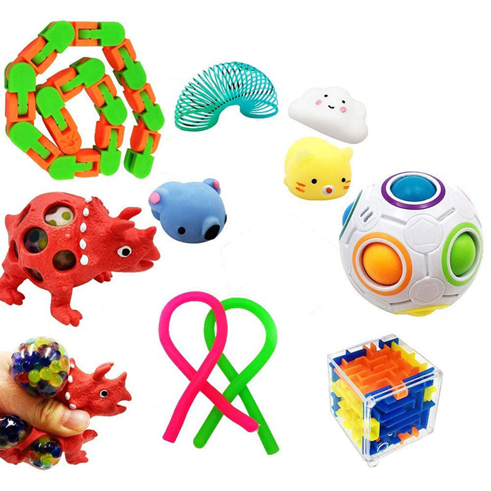 Fidget-Toys-Set Marbles-Ball Relief-Squeeze-Toys Stress Pop Bubble Adults For Kids Autism img5
