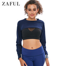 ZAFUL Hot Fashion Solid vrouwen Open Buste Crop Gym Korte Hoodie Sweatshirt Jumper Crop Top Coat Sport Trui Tops herfst(China)