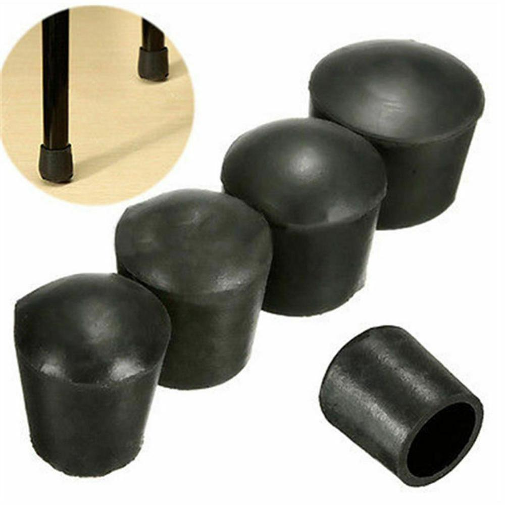 4PCS Scratch Protector Plastic Rubber Cover For Chair Furniture Round Legs 4 X Rubber Caps 22-60mm Decoration