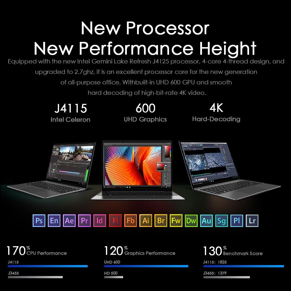 CHUWI original GemiBook Pro 14inch windows 10 Laptop Intel Gemini lake J4125 Quad Core 16GB RAM 512GB SSD With backlit keyboard-2