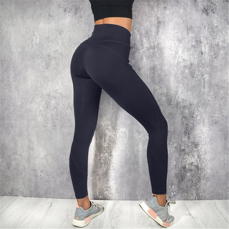 Fashion Casual Ladies Clothes Women Sport High Waist Fitness Leggings Free shipping Running Gym Scrunch Trousers