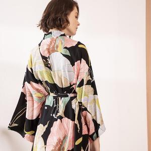 Image 4 - חדש קימונו חלוק חלוק רחצה נשים ויסקוזה שושבינה גלימות סקסי הדפסת גלימות ויסקוזה Robe גבירותיי הלבשה שמלות