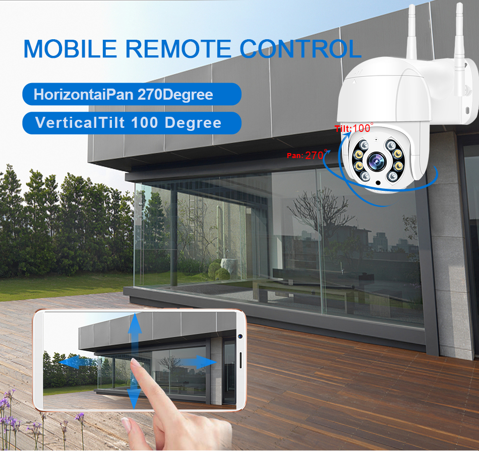 Smar 1080P Outdoor PTZ Wireless IP Camera 4X Digital Zoom Speed Dome Mini WiFi Security CCTV Audio Camera Auto tracking of Human (8)