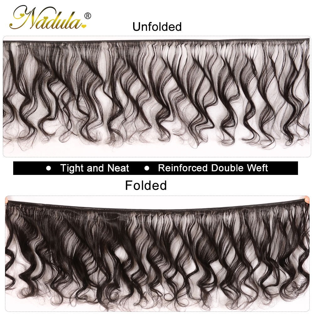 Nadula Hair  Loose Wave Bundles With Closure  Bundles With Closure 4*4 Swiss Lace Closure With Bundles 2
