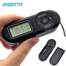 JINSERTA Digital Pocket FM Radio FM:64 108MHz Portable FM Radio Receiver with LCD Display Neck Lanyard 3.5mm Headphone