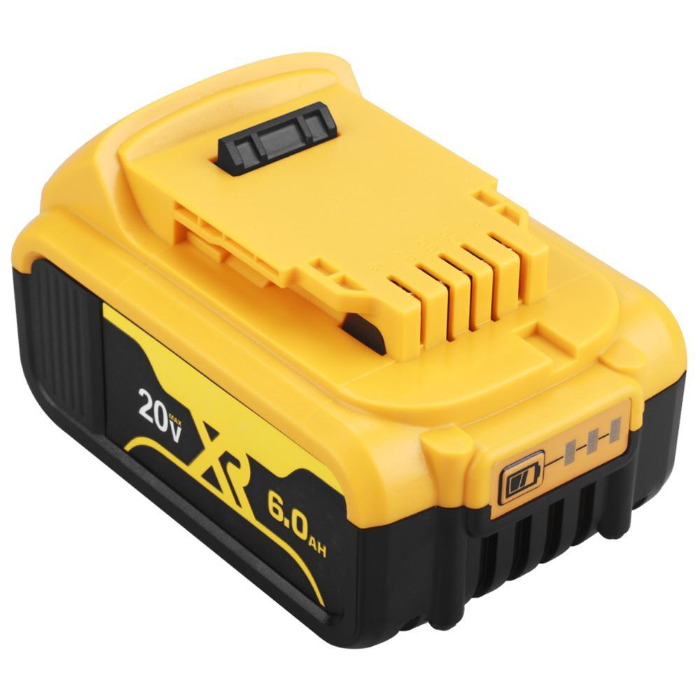 1 упаковка 20V 6000Ah батарея Электроинструмент Замена для DeWalt DCB184 DCB181 DCB182 DCB200 20V 6Ah батарея