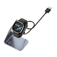 Estación de carga USB de aleación de aluminio para Fitbit Sense, soporte de acoplamiento para Fitbit Versa 3 Sense, cargador magnético, reloj inteligente