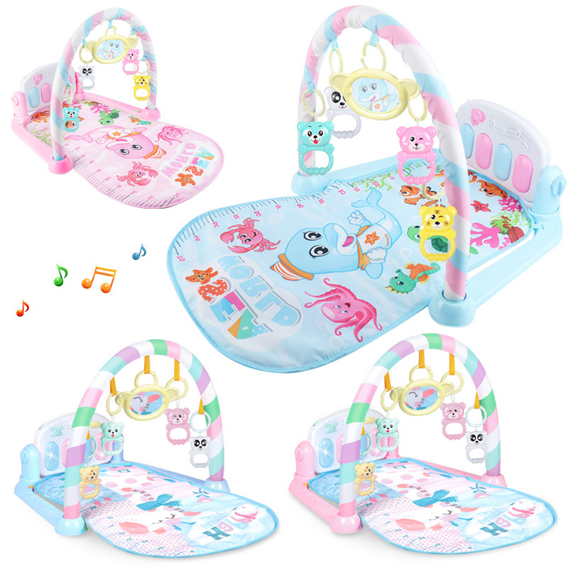 Baby Pedal Piano Collection Baby Early Education Rattle Light Music Carpet Fitness Rack Toy