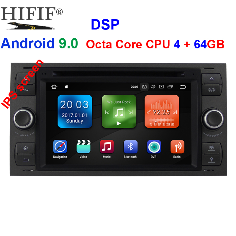 4G 2 Din Android 9.0 Car dvd Multimedia Player GPS audio For <font><b>Ford</b></font> Mondeo <font><b>Focus</b></font> Transit C-MAX S-MAX Fiesta <font><b>auto</b></font> <font><b>radio</b></font> IPS DSP image