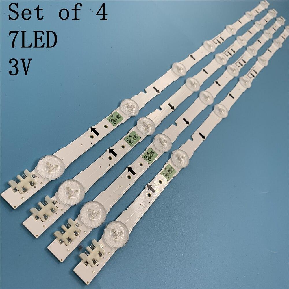 (New Kit) 4 PCS 7LED 65CM LED Backlight Strip For Samsung UE32H5570S 32H5000 UN32J5003AF D4GE-320DC1-R1 R2 Bn96-30443A 3044A
