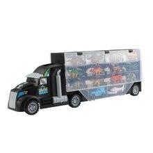 цена на New Dinosaur Model Transport Vehicle Tractor Animal Doll Transport Truck Toy Children Funny Container Truck Toy Dinosaur Model