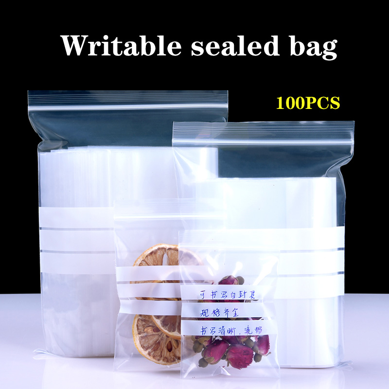 Saco ziplock transparente plástico writable engrossado personalizado pequeno saco de medicina saco de amostra selado saco de embalagem de etiqueta oral