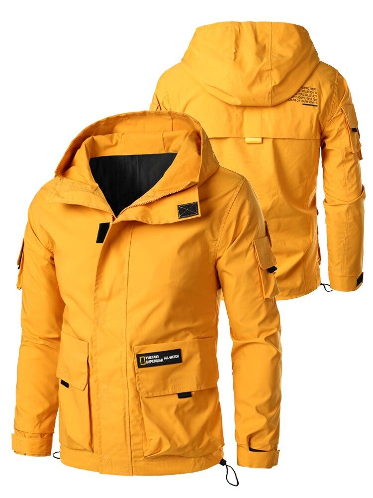 Windbreaker-Coats Hoody Bomber-Jacket Steetwear Autumn Designer Men Korean-Fashion 5XL