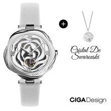Ciga Ontwerp Horloges Voor Vrouwen Horloge Met Rose Ketting Dames Horloge Luxe Horloges Quartz Horloges Mechanische Japan Beweging