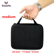 SnowHu for Gopro Accessories EVA Middle Collecting Box for Go pro Hero 9 8 7 6 5 4 3SJCAM sj4000 SJ5000 Eken H9 Xiaomi Yi GP102