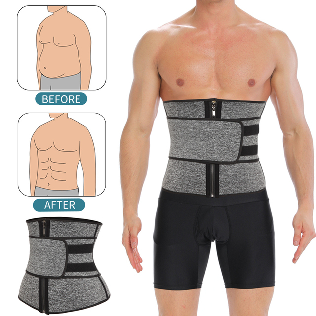 Mens Waist Trainer Modeling Belt Belly Slimming Body Shaper Tummy Control Weight Loss Shapewear Promote Sweat Slim Trimmer Belt