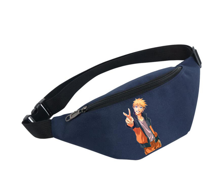 Waist Bag Women Belt Waterproof Chest Handbag Unisex Fanny Pack Ladies Waist Pack Belly Bags For Anime Naruto