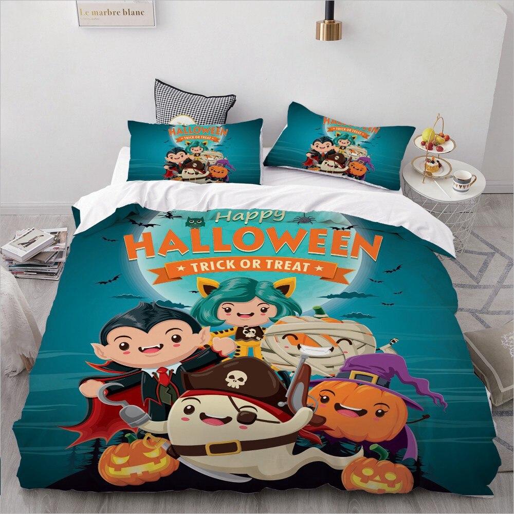 Halloween Ghost Bedding King/Queen,3D Cartoon Bedding Set For Kids/baby/children Duvet Cover Set Single,Quilt/Blanket Cover Set